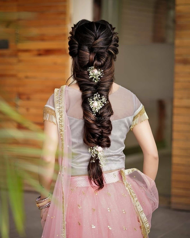 bridal hairstyle for reception